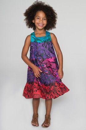 Red & Purple Color Transition Sleeveless Dress - Toddler & Girls - Yo Baby