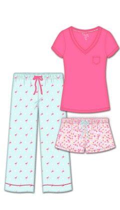 Pretty Persuasion 3 Pc Set - Pink - Rene Rofe