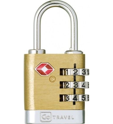 Brass Travel Sentry Lock - Go Travel