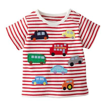 Red And White Stripes Half Sleeves T-shirt - Lil Mantra