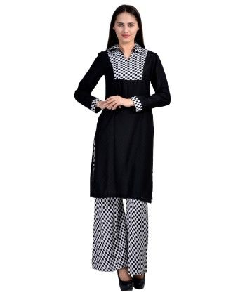 Kurti & Plazo Set Black - White - Brand Stand