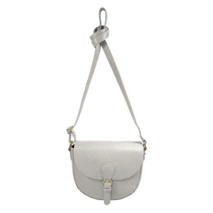 Belt Buckle Closure Crossbody White - YOKI