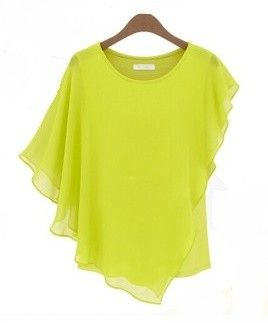 Ruffle Sleeve Women's Yellow Top - STUPA FASHION