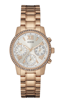 Guess Rose-gold Tone Mini Sunrise Watch - Guess Watches