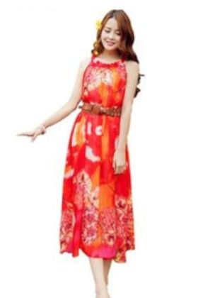 Tie Dry Orange Dress - Mauve Collection