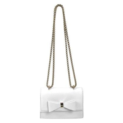 Front Bow Metal Chain Crossbody White - YOKI