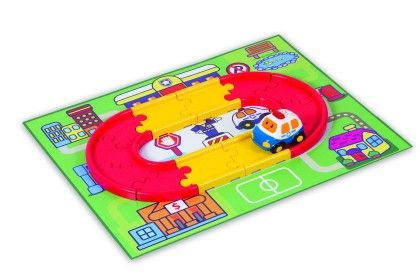 Go Go Drivers Police Car And Starter Track Set - WINFUN