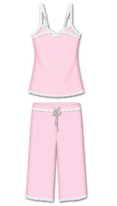 Love That Lace Capri Pj Set - Pink - Rene Rofe