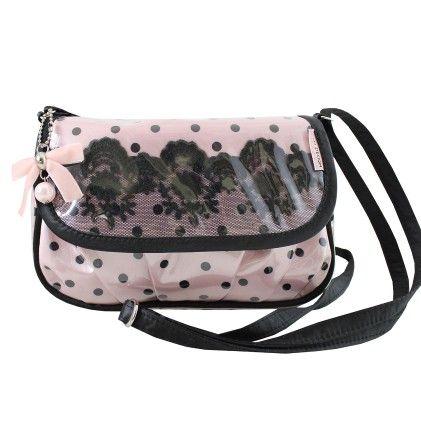 Pink Polka Dot Romance Cross Body Bag-1 - Jacki Design