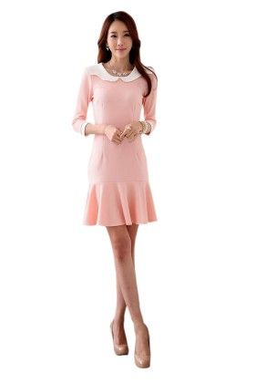 Classy Pink Dress - Mauve Collection