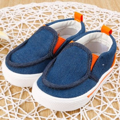 Canvas Slip On- Navy - Cool Kicks
