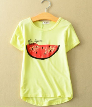 Sweet Watermelon Print Yellow T-shirt - AILE BABY