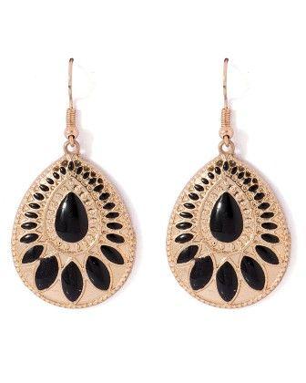 Voylla Drop Earrings In Gold Tone