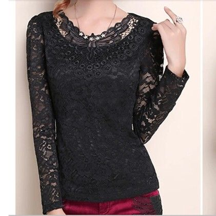 Women Black Lace Top - STUPA FASHION