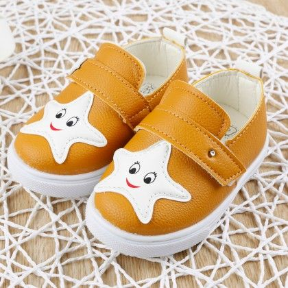 Yellow Star Face Slip-on Shoes - Dancing Toes