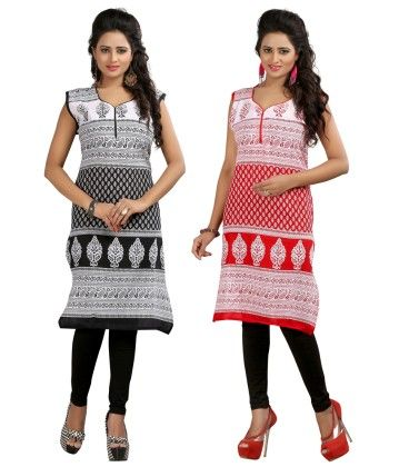 Combo Of Two Kurti Black & Red - Brand Stand