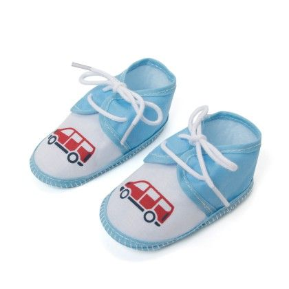 Wonder Clothes Baby Booties - White Light Blue - Wonderkids