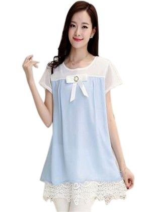Sky Blue Women's Classy Top - Mauve Collection