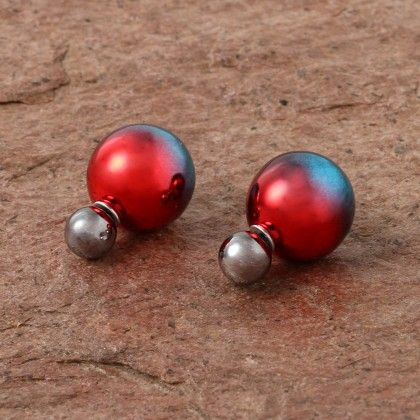 Fashion Double Shaded Pearl - Red - Anaira