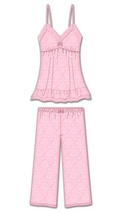Sweet Dreams Capri Pj Set - Pink - Rene Rofe