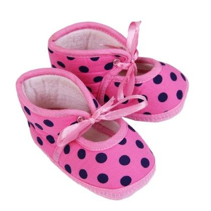 Trendy Booties - Polka - Pink - Morisons* Baby Dreams