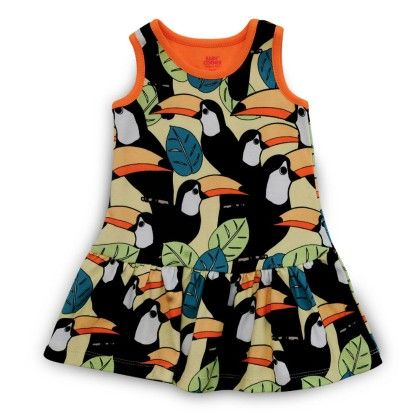 Toucan All Over Printed Dress - Baby Corner