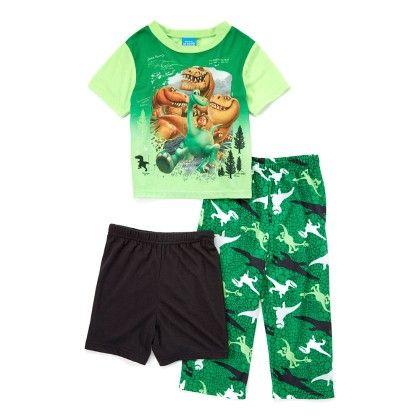 Dino 3 Piece Pajama Set - American Sleepwear