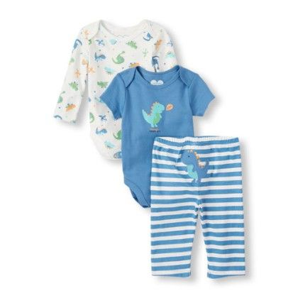 Baby Boys Bodysuit And Pants 3-piece Playset - The Children's Place