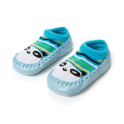Wonderkids Panda Face Design Baby Socks - Light Blue