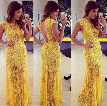 Backless Lace Croche Long Maxi Dresses - Drape In Vogue