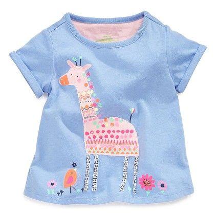 Blue Animal Half Sleeves T-shirt - Lil Mantra