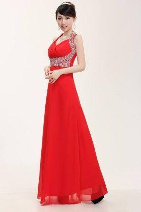 Elegant Beaded Flowing Chiffon Formal Dress - Mauve Collection