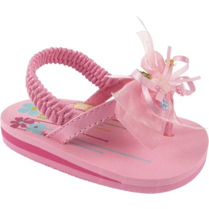 Pink Patent Eva With Sheer/satin Bow With Multi Color Beads - Baby Deer