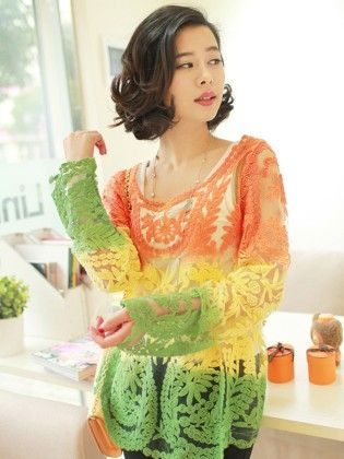 Embroidery Floral Hollow Lace Women Top - STUPA FASHION