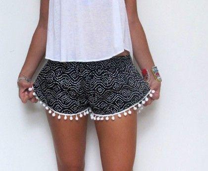 Black Beach Shorts - Oomph