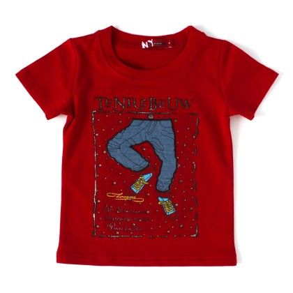 Tenrfbeuw Printed Red Round Neck T-shirt - NODDY