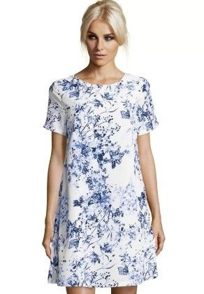 Print Special Tunic  White - Mauve Collection