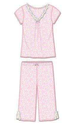 Moonlightkiss Capri Pj Set - Pink - Rene Rofe
