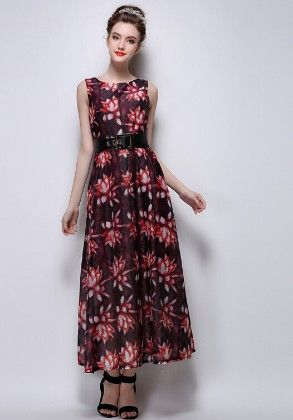 Printed Dress - Mauve Collection