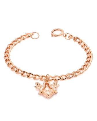 Voylla Modern Bracelet In Rose Gold Tone