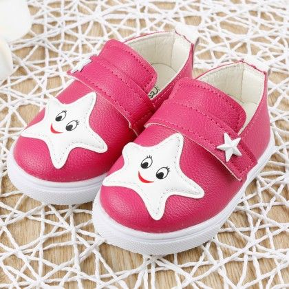 Fuchsia Star Face Slip-on Shoes - Dancing Toes
