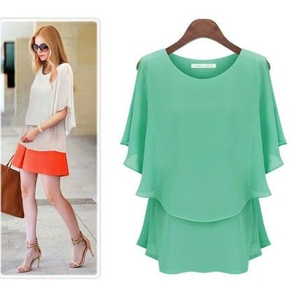 Loose Casual Summer Green Top - STUPA FASHION