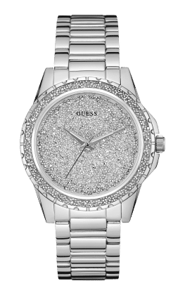 Guess Silver Tone Moonlit Watch - Guess Watches