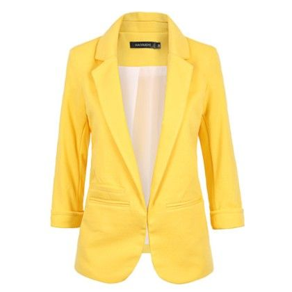 Candy Color Jackets For Women Yellow - Mauve Collection