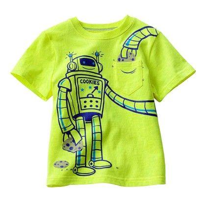 Green Robot Half Sleeves T-shirt - Lil Mantra