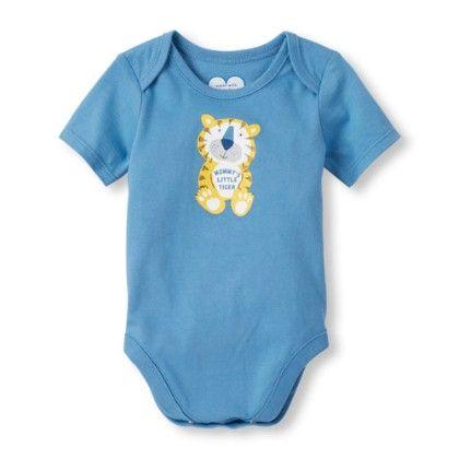 Unisex Baby Short Sleeve 'mommy's Little Tiger' Tiger Little Talker Bodysuit - The Children's Place