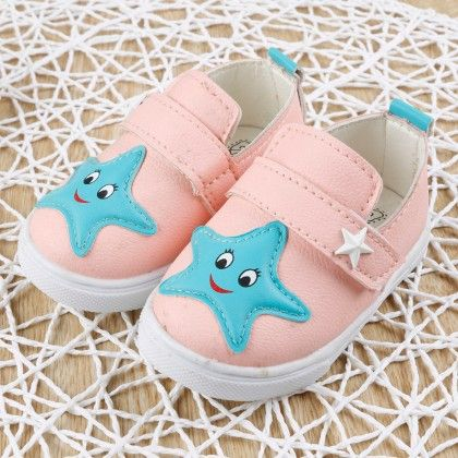 Pink Star Face Slip-on Shoes - Dancing Toes