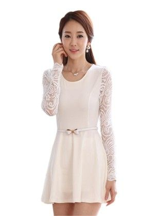 Stylish Net Sleeves Dress - Mauve Collection