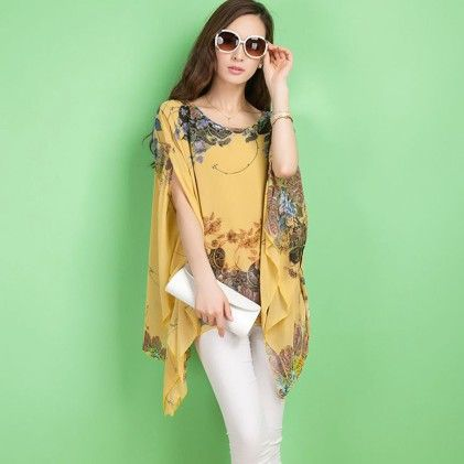 Summer Chiffon Yellow Top - STUPA FASHION