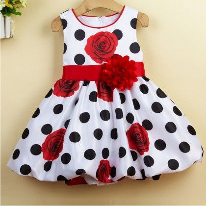 Black Polka Dots Party And Evening Dress - Teddy Guppies